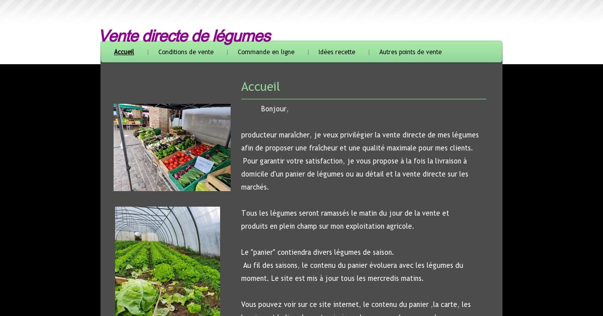 vente directe de l gumes produits sur l 39 exploitation agricole. Black Bedroom Furniture Sets. Home Design Ideas